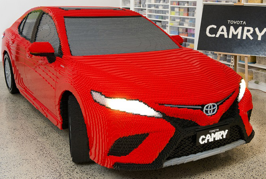 Toyota Malawi | Life-size Toyota Camry made from half a million Lego ...